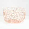 "FABLE Round Bowl 8.7x8.7x4.7""H,  Rose Gold"